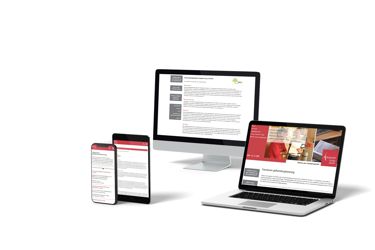 Optimale presentatie recruitment website op alle devices